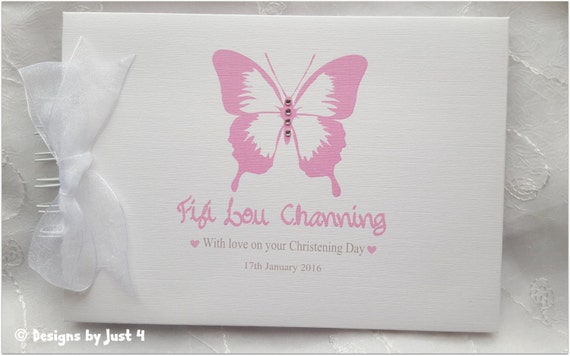 PERSONALISED-CHRISTENING-NAMING-DAY-GUEST-BOOK GIFT-PRESENT-PHOTO-ALBUM BAPTISM