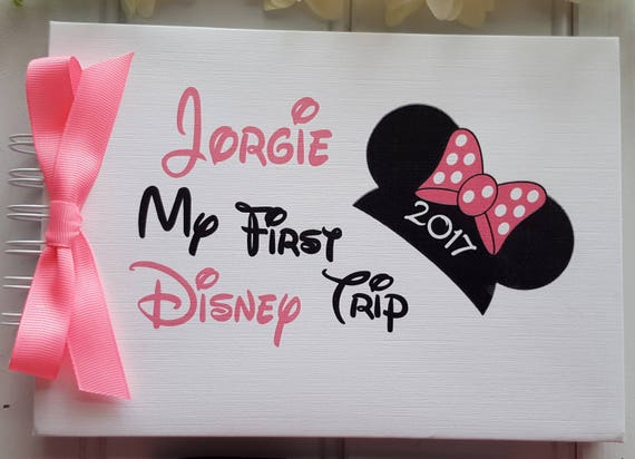 Personalised Disney Autograph Book My First Disney Trip Etsy