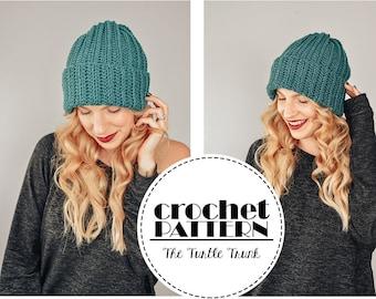 Easy Breezy Ribbed Beanie Crochet Pattern - PDF Digital Download Crochet Pattern - Crochet Hat Pattern