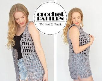 Crossroads Vest Crochet Pattern - Easy Crochet Summer Vest - pdf digital download