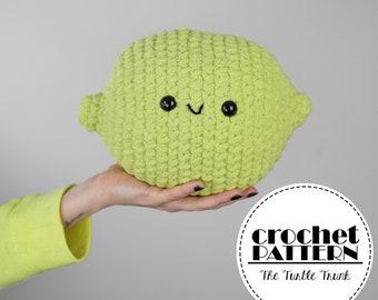 Lime Cuddler crochet pattern - Plush Lime Pillow crochet pattern