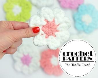 Flower Facial Scrubbie Crochet Pattern - Crochet Facial Round - Reuseable Facial Scrubbie Crochet Pattern - pdf digital download