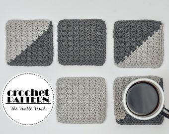 Farmhouse Coaster Crochet Pattern - Easy Crochet Coaster Pattern