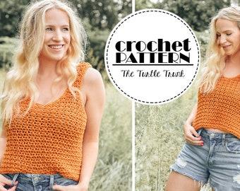 Sweet Tea Tank Crochet Pattern - Easy Crochet Tank Top/ Crop Top Pattern - PDF Digital Download