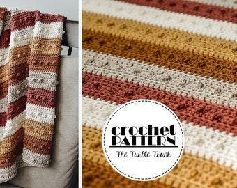 Picot Blanket Crochet Pattern - Easy Crochet Blanket Pattern - PDF Digital Download