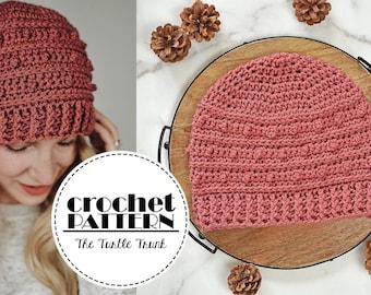 Picot Beanie Crochet Pattern - Easy Crochet Beanie Pattern - PDF Digital Download