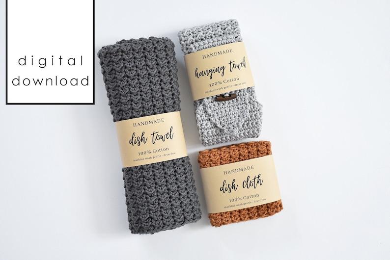 Handmade Dish Set Wrap Labels  PDF Digital Download image 0
