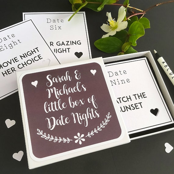 Date Night Box Date Night Ideas Date Night Cards First Etsy