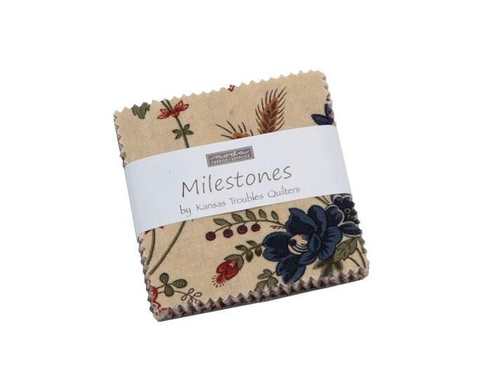 9610 MC / Fabric / Quilting Fabric / Moda Precuts / Mini Charm / Moda / Milestones / Kamsas Troubles