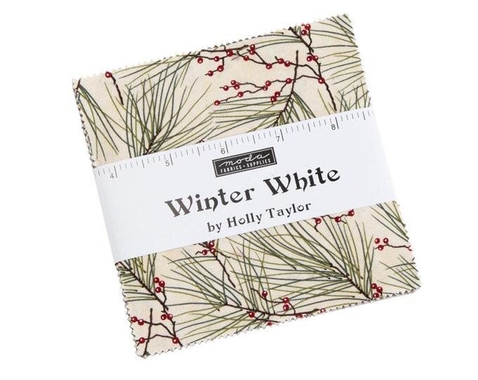 6810 PP / Fabric / Quilting Fabric / Moda Precuts / Charm / Moda / Winter White