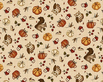 Hello Fall / 2689 33 / Henry Glass / Hannah West / Fabric / Quilting / Quilting Fabric