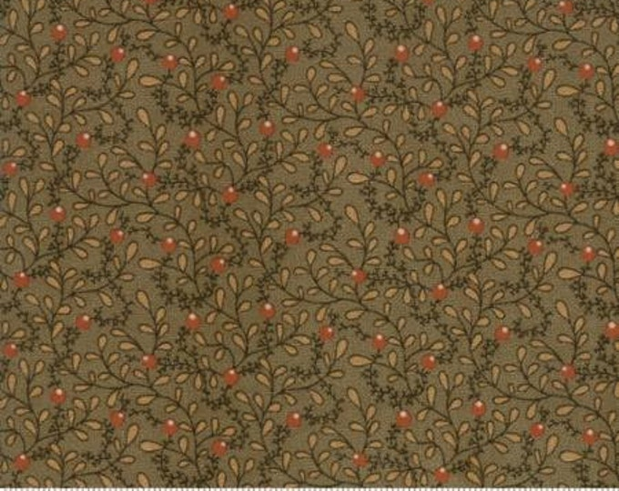 38050 13 / Moda / Fabric / Quilting Fabric / Spice It Up Collection / Jo Morton / Olive Green