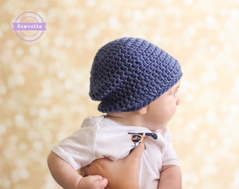 Crochet Slouchy Baby Beanie Hat PATTERN pdf instant digital download  newborn infant toddler child 8cffa2069b5