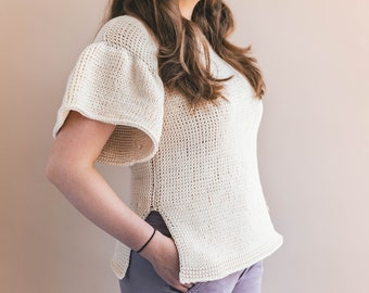 Crochet Pattern - Parisian Tunisian Top - Wearable - PATTERN pdf - Tutorial - Sewrella