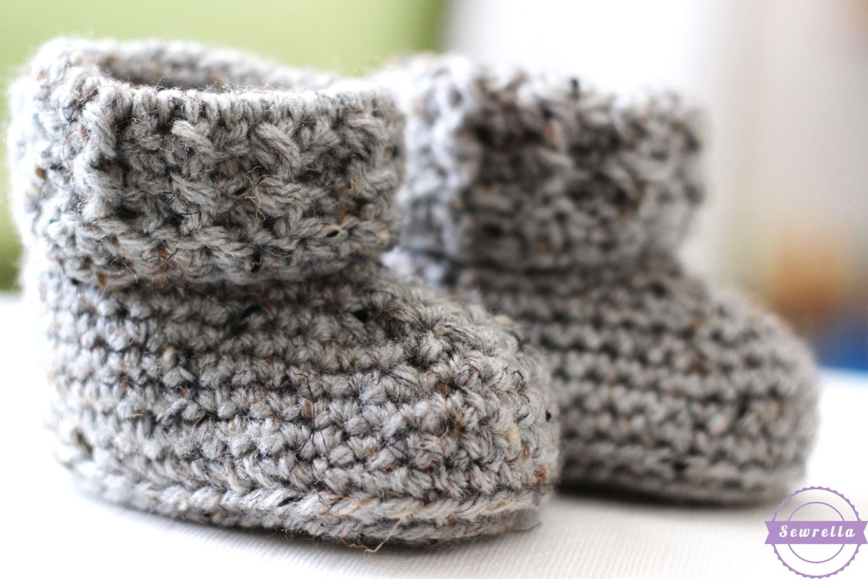 Crochet Pattern Easy Beginner Baby Booties Infant Etsy