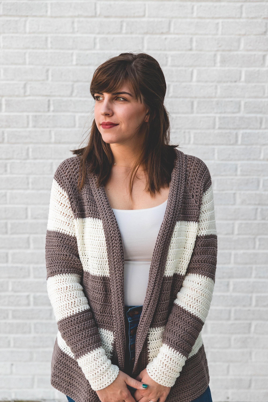 Crochet Pattern Slouchy Stripe Sweater Crochet Sweater Etsy