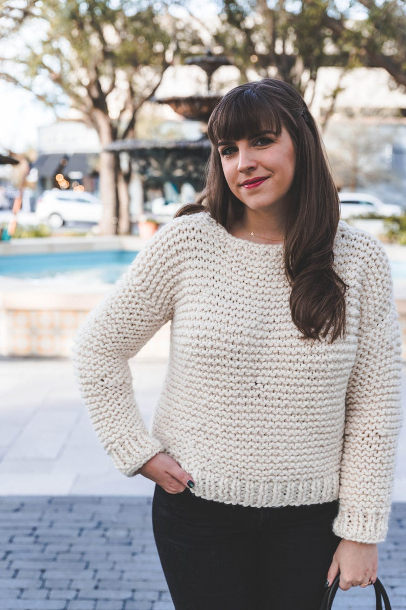 7beddc300232 Simple KNIT Sweater PATTERN pdf instant digital download