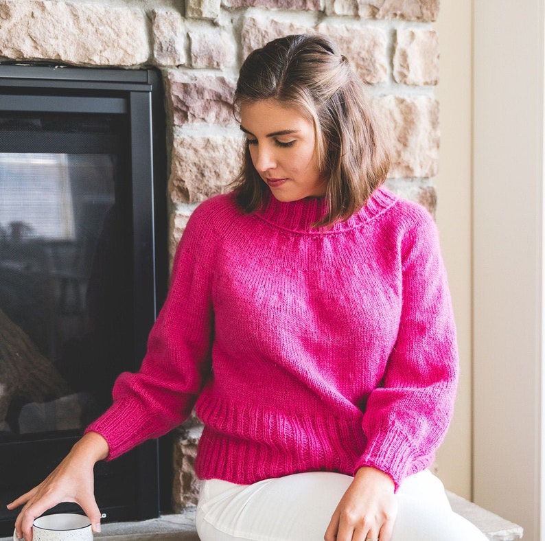 Knitting Pattern Holiday Sweater image 0