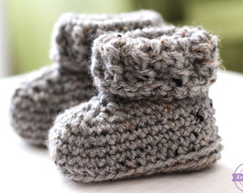 The Parker Crochet Baby Booties Pattern pdf instant digital download