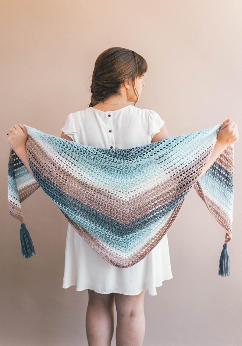 Crochet Wrap Pattern Wishing Well Wrap Crochet Pattern Etsy