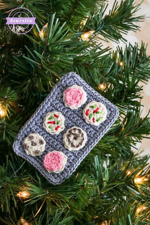Crochet Christmas Cookies Ornament Pattern Pdf Instant Digital Etsy