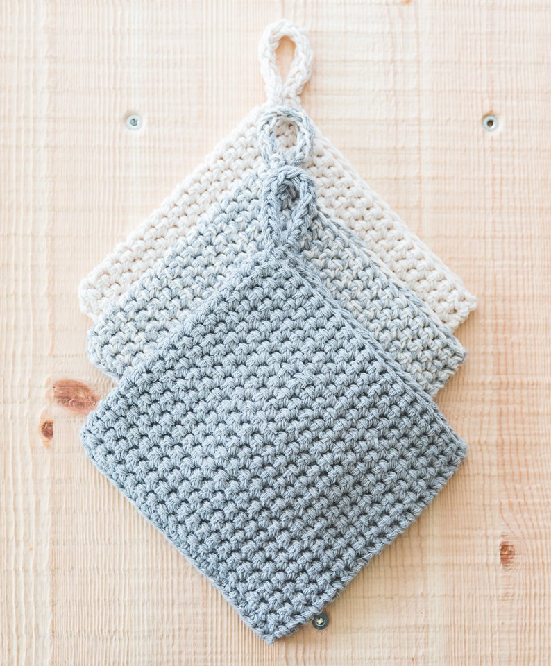 CROCHET PATTERN easy double thick potholders image 0