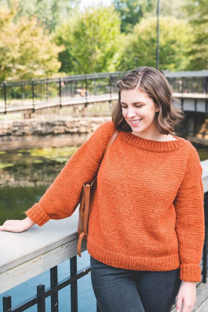 KNITTING PATTERN Oh My Gourd Sweater pdf instant digital image 0