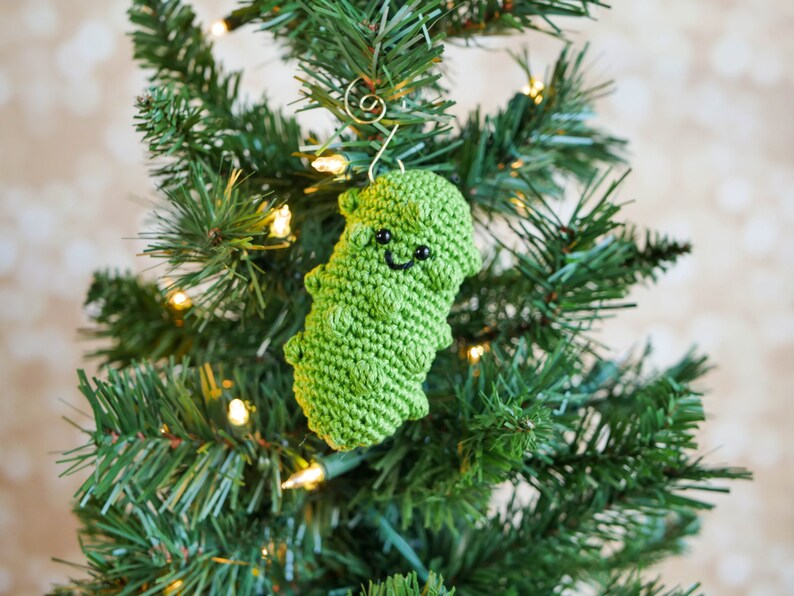 Crochet German Pickle Christmas Ornament Pattern Pdf Instant Etsy