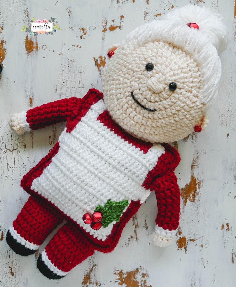 Mrs. Claus Crochet Christmas Pattern pdf instant digital image 0