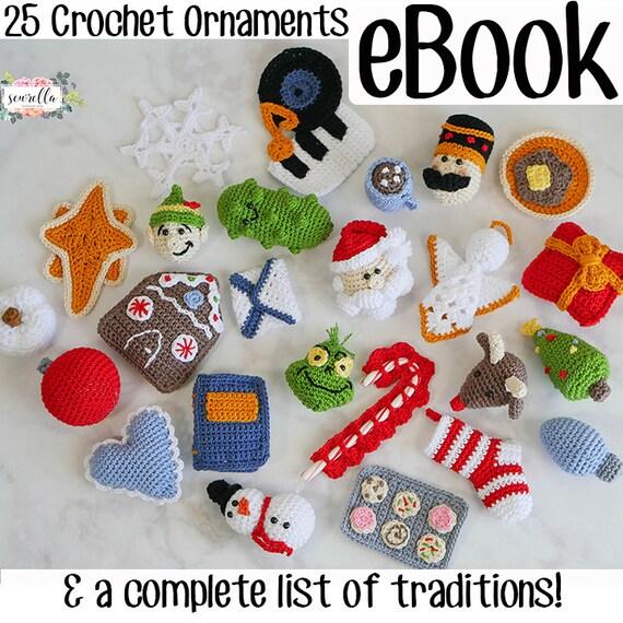 25 Christmas Crochet Ornament Patterns Ebook Holiday Tree Etsy