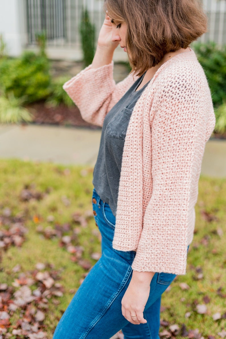 Crochet Pattern Cozy Cardigan PDF instant digital download image 0