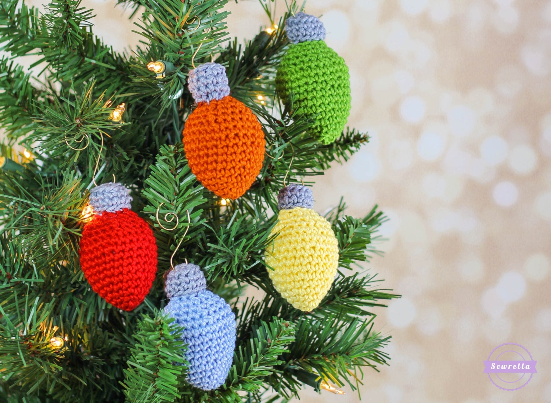 Crochet Christmas Lights Ornament Pattern Pdf Instant Digital Etsy