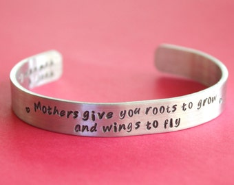 Mothers Bracelet Gift for Mom Mother Quote Bracelet Hand Stamped Bracelet Cuff Bracelet Custom Bracelet