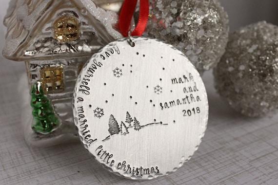 Personalized Newlywed Ornament