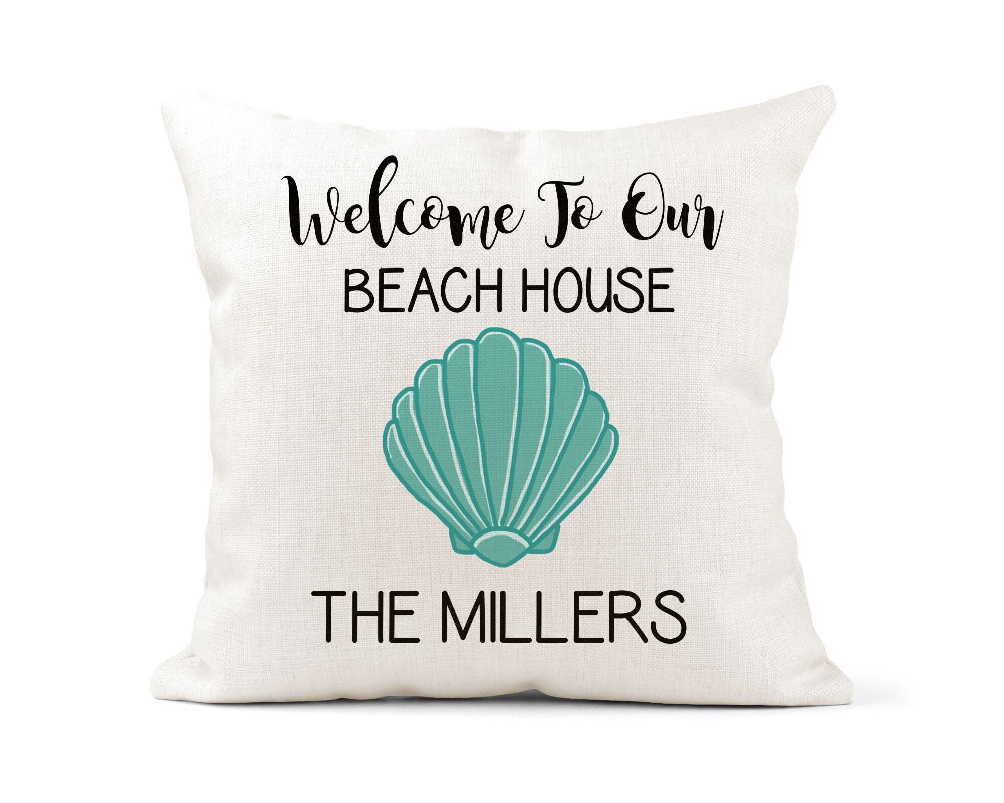 Personalized Beach House Pillow Beach House Decor