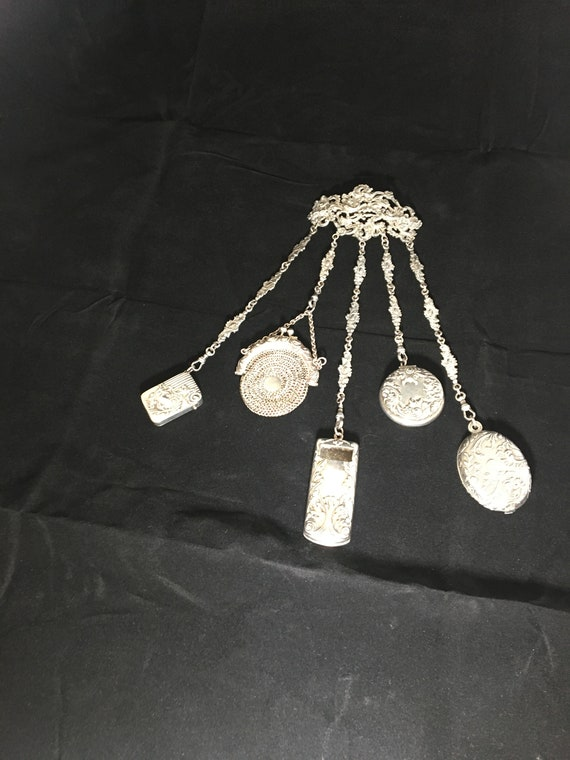 Victorian Silver-Plated Chatelaine