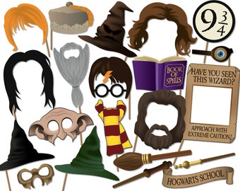 picture relating to Harry Potter Printable Props named Potter photograph booth Etsy