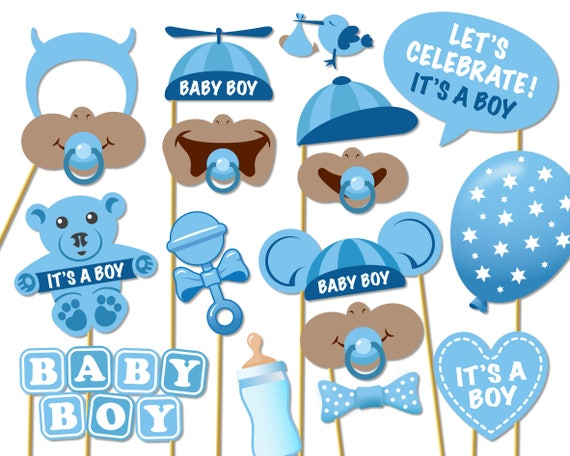 Baby Shower Photo Props Its A Boy Photo Booth Props Etsy