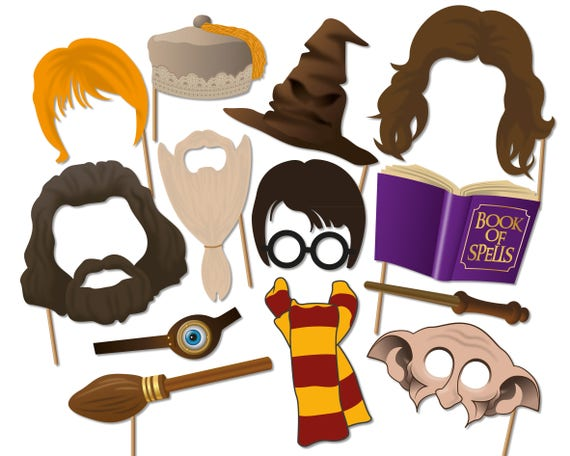 Harry Potter Printable Photo Booth Props Wizard Photo Booth Etsy