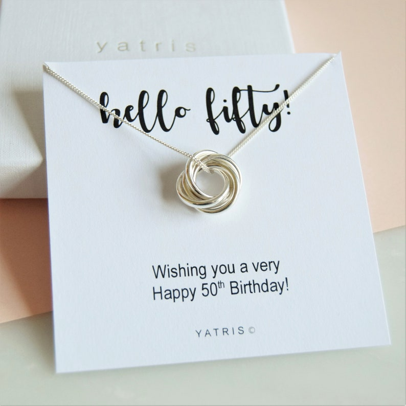 50th Necklace Birthday Gift