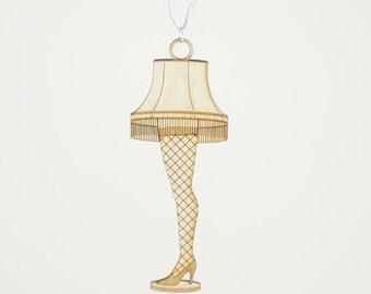 leg lamp leg lamp ornament laser cut wood a christmas story christmas ornaments christmas christmas story a christmas story ornament
