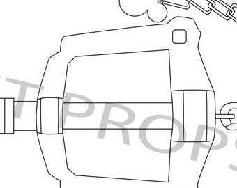 rainfell keyblade template blueprint etsy