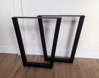 Metal Table Legs - Pair - Metal Trapezoid Table Legs - Metal Legs - Steel Table Legs - Dining Table Legs - Bench Legs - Iron Table Legs