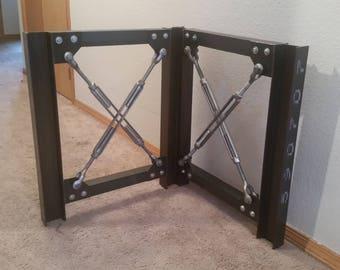 Industrial Table Legs - Desk Legs - Metal Table Legs - Unique Table Legs - I Beam Table Legs