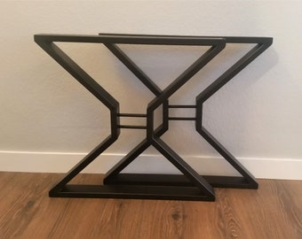 Dining Table Legs - Metal Table Legs - Iron Table Legs - Entry Table Legs - Live Edge Table Legs