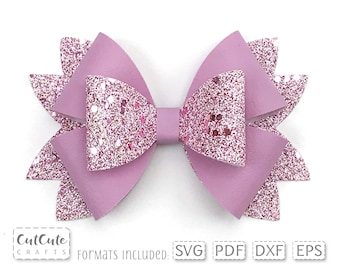 Hair Bow Faux Leather