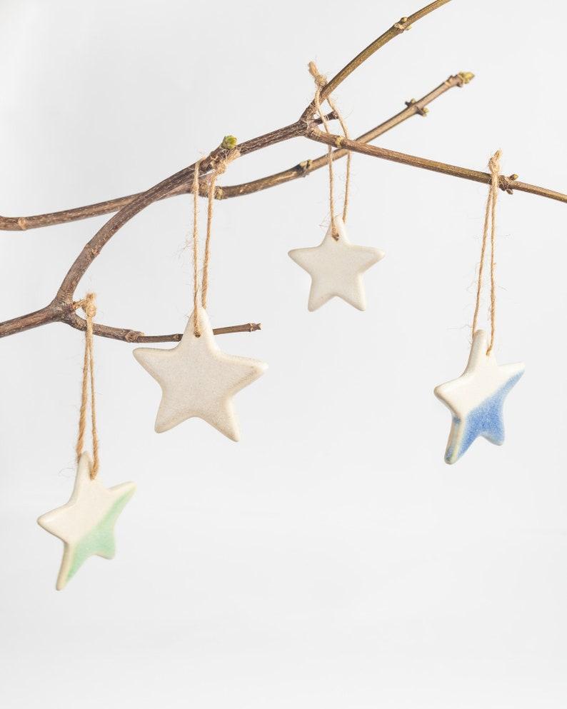 Ceramic Christmas Ornaments Star