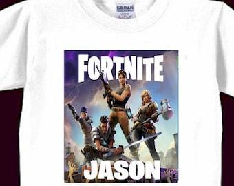 61b5a0b6 Fortnite Birthday Shirt Custom T Shirt Boys Fortnight Shirts Personalized  Gamer Birthday Gift Boys Youth Clothing Fortnite Kid's Clothing
