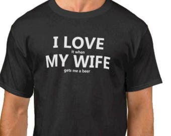 ae99aa1c66faf I Love My Wife Novelty T Shirt Funny Slogan Tshirt Sayings Tee Shirt Men's  Clothing Funny T Shirt Mens T Funny Shirt, T Shirt For Men