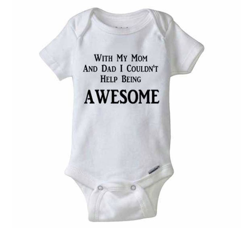 f53648e115b81 Funny Baby Onesie I Couldn't Help Being Awesome Boys | Etsy